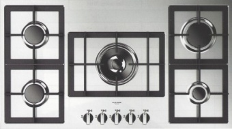 90-cm built-in gas surface