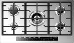 90-cm touch control gas cooktop